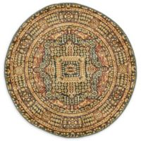 Unique Loom Jackson Palace 3' Round Powerloomed Area Rug in Blue