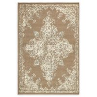 Unique Loom Medallion Sahara 4' X 6' Powerloomed Area Rug in Brown