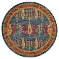 Unique Loom Mesquite Nomad 6' Round Powerloomed Area Rug in Blue