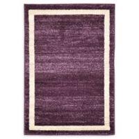 """Unique Loom Maria Del Mar 2'2"""" X 3' Powerloomed Area Rug in Violet"""