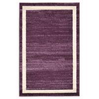 """Unique Loom Maria Del Mar 3'3"""" X 5'3"""" Powerloomed Area Rug in Violet"""