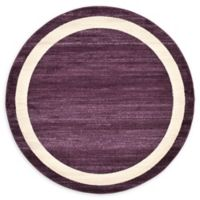 Unique Loom Maria Del Mar 6' Round Powerloomed Area Rug in Violet