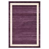 Unique Loom Maria Del Mar 6' X 9' Powerloomed Area Rug in Violet