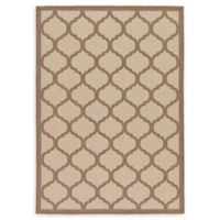 Unique Loom Moroccan Outdoor 7' X 10' Powerloomed Area Rug in Beige