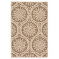 "Unique Loom Medallion Outdoor 3'3"" X 5' Powerloomed Area Rug in Beige"