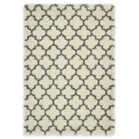 Unique Loom Marble Marrakesh Shag 4' X 6' Powerloomed Area Rug in Ivory