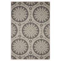 Unique Loom Medallion Outdoor 6' X 9' Powerloomed Area Rug in Gray
