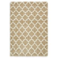 Unique Loom Marble Marrakesh Shag 4' X 6' Powerloomed Area Rug in Taupe