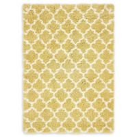 Unique Loom Marble Marrakesh Shag 4' X 6' Powerloomed Area Rug in Yellow