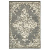 Unique Loom Medallion Sahara 4' X 6' Powerloomed Area Rug in Gray