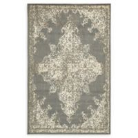 Unique Loom Medallion Sahara 5' X 8' Powerloomed Area Rug in Gray