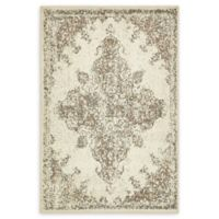 Unique Loom Medallion Sahara 4' X 6' Powerloomed Area Rug in Cream