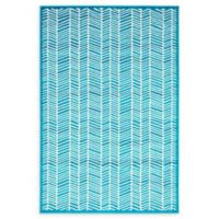 Unique Loom Metro Feather 4' X 6' Powerloomed Area Rug in Turquoise