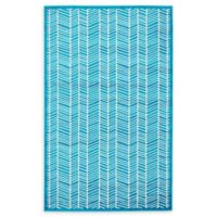 Unique Loom Metro Feather 5' X 8' Powerloomed Area Rug in Turquoise