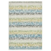 Unique Loom Maui Transitional 4' X 6' Powerloomed Area Rug in Cream