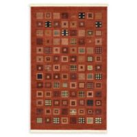 "Unique Loom Manchester Nomad 3'3"" X 5'3"" Powerloomed Area Rug in Red"