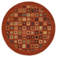 Unique Loom Manchester Nomad 6' Round Powerloomed Area Rug in Red