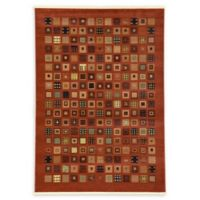 Unique Loom Manchester Nomad 7' X 10' Powerloomed Area Rug in Red