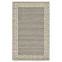 "Unique Loom Modern Athens 3'3"" X 5'3"" Powerloomed Area Rug in Gray"