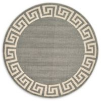 Unique Loom Modern Athens 6' Round Powerloomed Area Rug in Gray