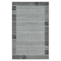 "Unique Loom Sarah Del Mar 3'3"" X 5'3"" Powerloomed Area Rug in Light Gray"
