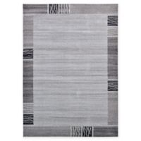 Unique Loom Sarah Del Mar 7' X 10' Powerloomed Area Rug in Light Gray