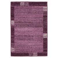 """Unique Loom Sarah Del Mar 2'2"""" X 3'2"""" Powerloomed Area Rug in Purple"""