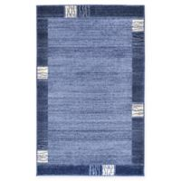"Unique Loom Sarah Del Mar 3'3"" X 5'3"" Powerloomed Area Rug in Light Blue"