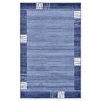 Unique Loom Sarah Del Mar 5' X 8' Powerloomed Area Rug in Light Blue