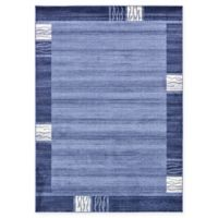 Unique Loom Sarah Del Mar 7' X 10' Powerloomed Area Rug in Light Blue