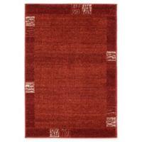 "Unique Loom Sarah Del Mar 2'2"" X 3' Powerloomed Area Rug in Rust Red"