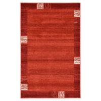 "Unique Loom Sarah Del Mar 3'3"" X 5'3"" Powerloomed Area Rug in Rust Red"