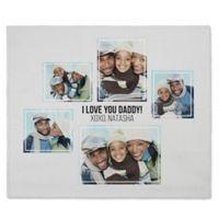 Five Photo Collage 50-Inch x 60-Inch Fleece Blanket