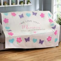All Our Hearts 60-Inch x 80-Inch Fleece Blanket