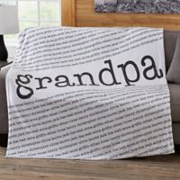 Our Special Guy 60-Inch x 80-Inch Fleece Blanket