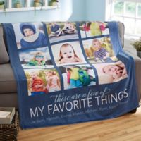 My Favorite Things 60-Inch x 80-Inch Fleece Blanket