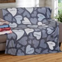 Loving Hearts 60-Inch x 80-Inch Fleece Blanket