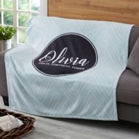 Patterned Name Meaning 60-Inch x 80-Inch Fleece Blanket