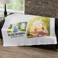 Two Photo Collage 50-Inch x 60- Inch Fleece Blanket