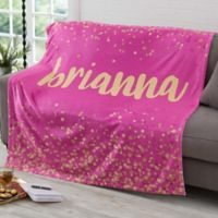 Sparkling Name 60-Inch x 80-Inch Fleece Blanket