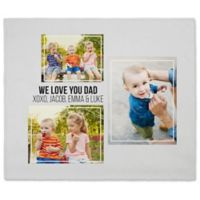 Three Photo Collage 50-Inch x 60-Inch Fleece Blanket