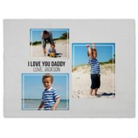 Three Photo Collage 60-Inch x 80-Inch Fleece Blanket
