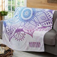 Mandala 50-Inch x 60-Inch Fleece Blanket