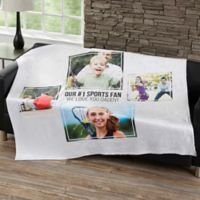 Four Photo Collage 50-Inch x 60-Inch Fleece Blanket