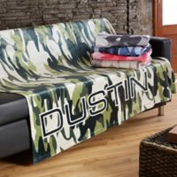 Camo 60-Inch x 80-Inch Fleece Blanket