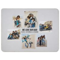Six Photo Collage for Him 50-Inch x 80-Inch Sherpa Blanket