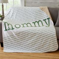 Our Special Lady 50-Inch x 60-Inch Sherpa Blanket