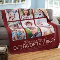 My Favorite Things 50-Inch x 60-Inch Sherpa Blanket