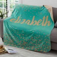 Sparkling Name 50-Inch x 60-Inch Sherpa Blanket