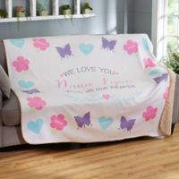 All Our Hearts 50-Inch x 60-Inch Sherpa Blanket